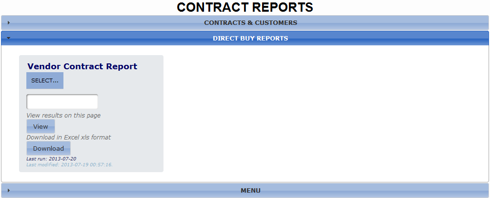 Vendor Contract Interface
